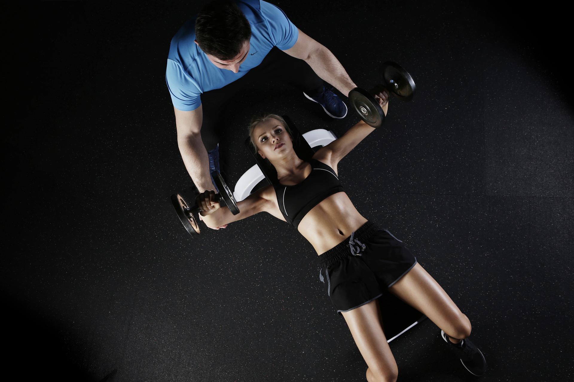 Training mit einem professionellen Personal Trainer